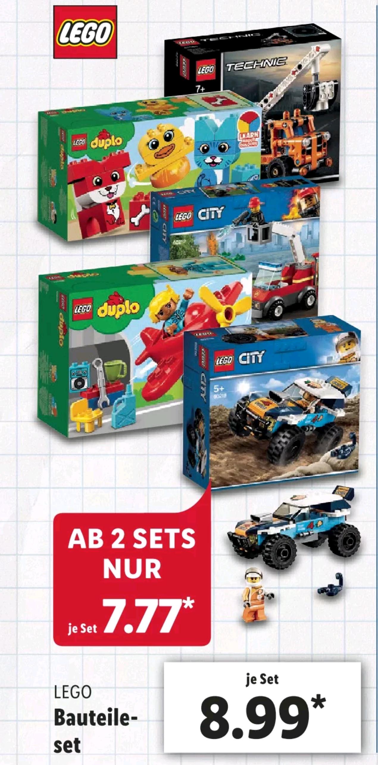 [Lidl regional] (ab 01.07.) kleine LEGO u. LEGO Duplo Sets (Ersparnis 10-22%)