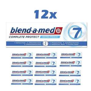 12x Blend-a-med Complete Protect 7 Zahncreme Extra Frisch oder Kristallweis (je 75ml)