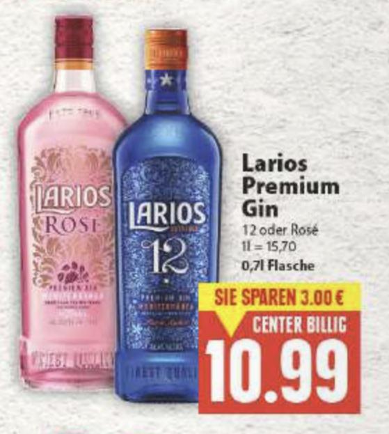 [Lokal EDEKA Minden] Larios 12 GIN oder Larios Rosé inkl. Scondoo zum Bestpreis: 8,99€ !!