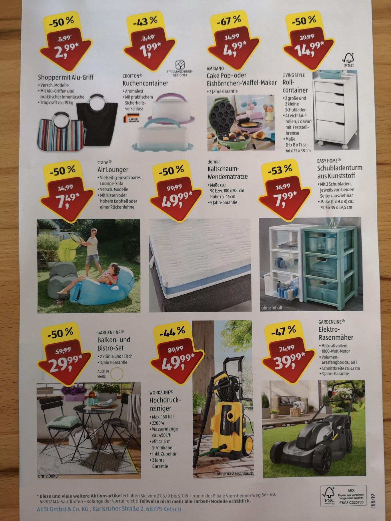 Sonderverkauf ALDI Süd (Lokal)