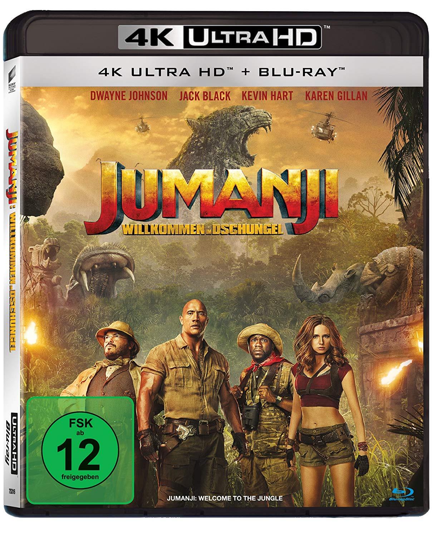 Jumanji: Willkommen im Dschungel 4K (4K UHD + Blu-ray) für 11€ versandkostenfrei (Saturn)
