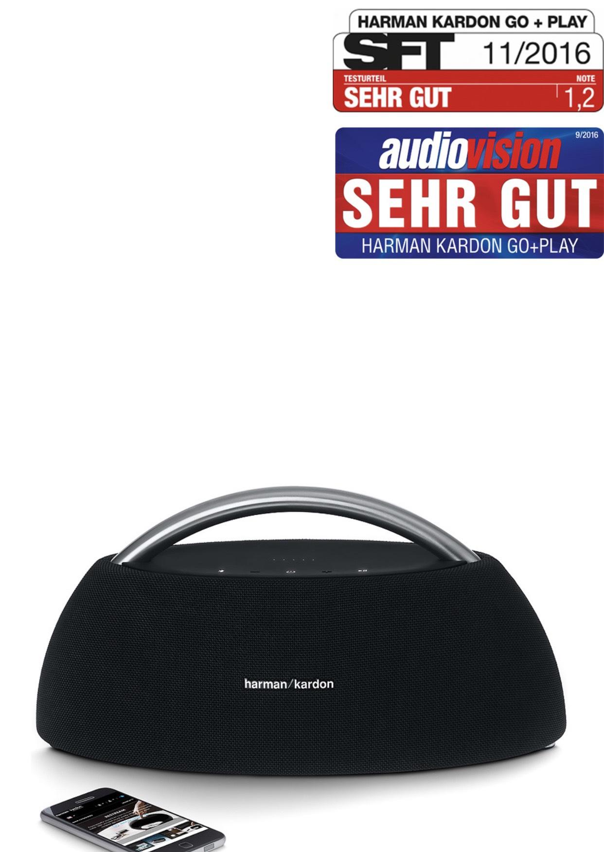 Bluetooth-Lautsprecher Go + Play / Harman Kardon / Tragbar / Nur heute 15€ Gutschein