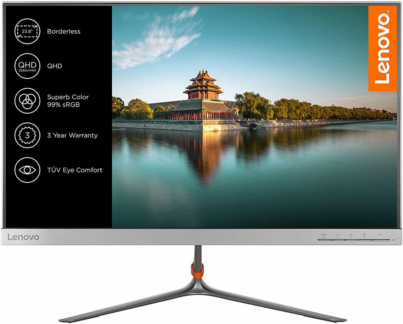 """Lenovo L24q-10 Monitor 24"""" - 2560x1440, iPS Panel, 8bit, 300cd/m², 99% sRGB, Borderless (Amazon.it)"""