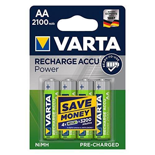 Amazon Prime: VARTA AA Mignon 2100 mAh Ni-Mh Akku (4er Pack, wiederaufladbar ohne Memory-Effekt) [Spar Abo 15% möglich, dann 5,65€]