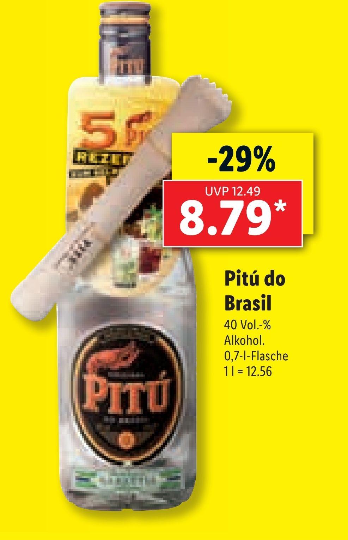 [Offline] Lidl - Pitú Cachaça 0,7L für 8,79€ ab 28.06.