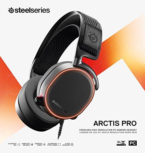 SteelSeries Arctis Pro – Gaming-Headset – hochauflösende Lautsprechertreiber – DTS Headphone:X v2.0 Surround