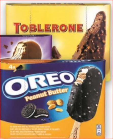 Toblerone, Milka und Oreo Stieleis für nur 1,99 Euro / Monster Energy Drink 0,5 l für 88 Cent [ Norma ]