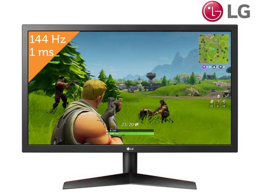 """LG 24""""-Gaming-Monitor """"24GL600F-B"""" (FHD matt, TN, 144 Hz, 300 cd/m², 1 ms, FreeSync) [iBOOD]"""