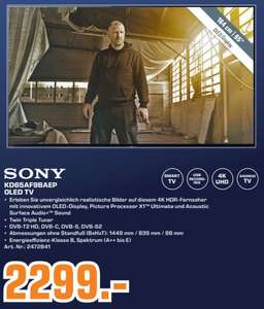(Lokal) Saturn Trier Sony KD-65AF9 OLED TV