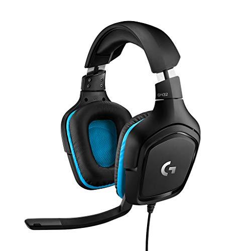 Logitech Gaming G432 Over-Ear Gaming Headset (3.5mm Klinke, schnurgebunden, 50mm Treiber, DTS Headphone: X 2.0,) inkl. G-Hub USB Dongle