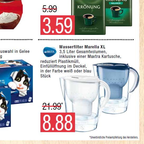 Brita Wasserfilter Marella XL (Marktkauf Nord)