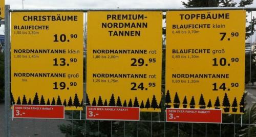 [IKEA-Family Bundesweit] {UPDATE} Weihnachtsbaum effektiv ab 2,50 inkl. 3 € Spende (Übersicht aller Teilnehmender Ikeas)