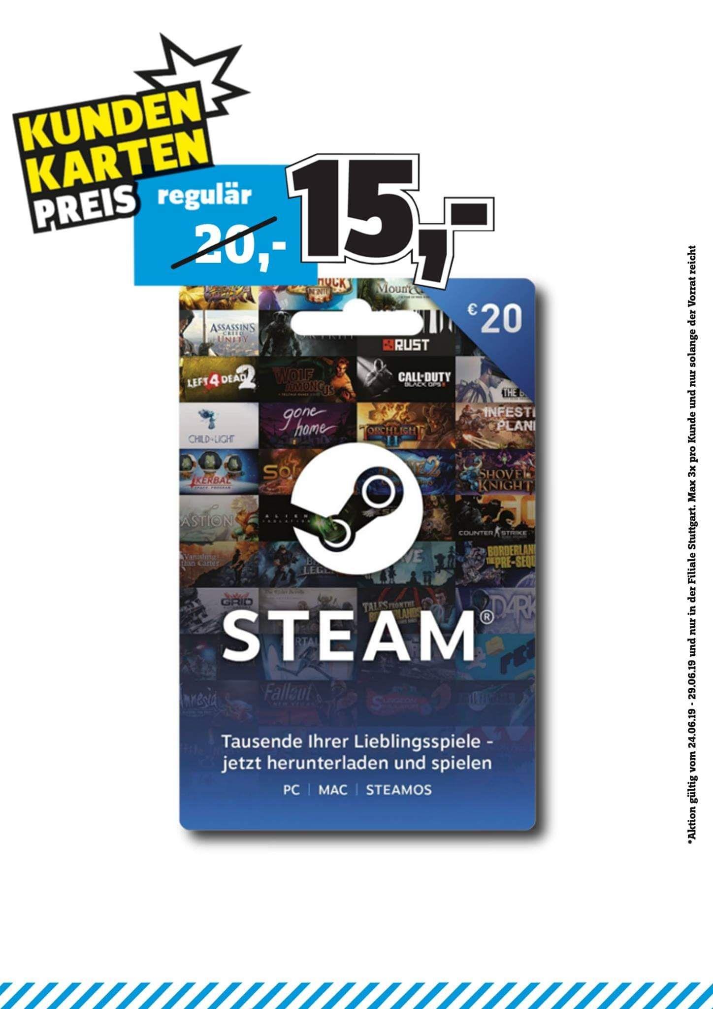 [Conrad Stuttgart] 20€ Steam Guthaben für 15€ (Kundenkarteinhaber)