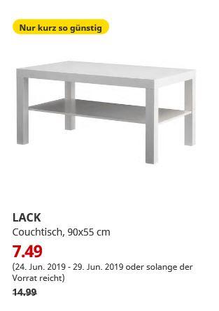 (IKEA Magdeburg) LACK Couchtisch weiß 90x55 cm