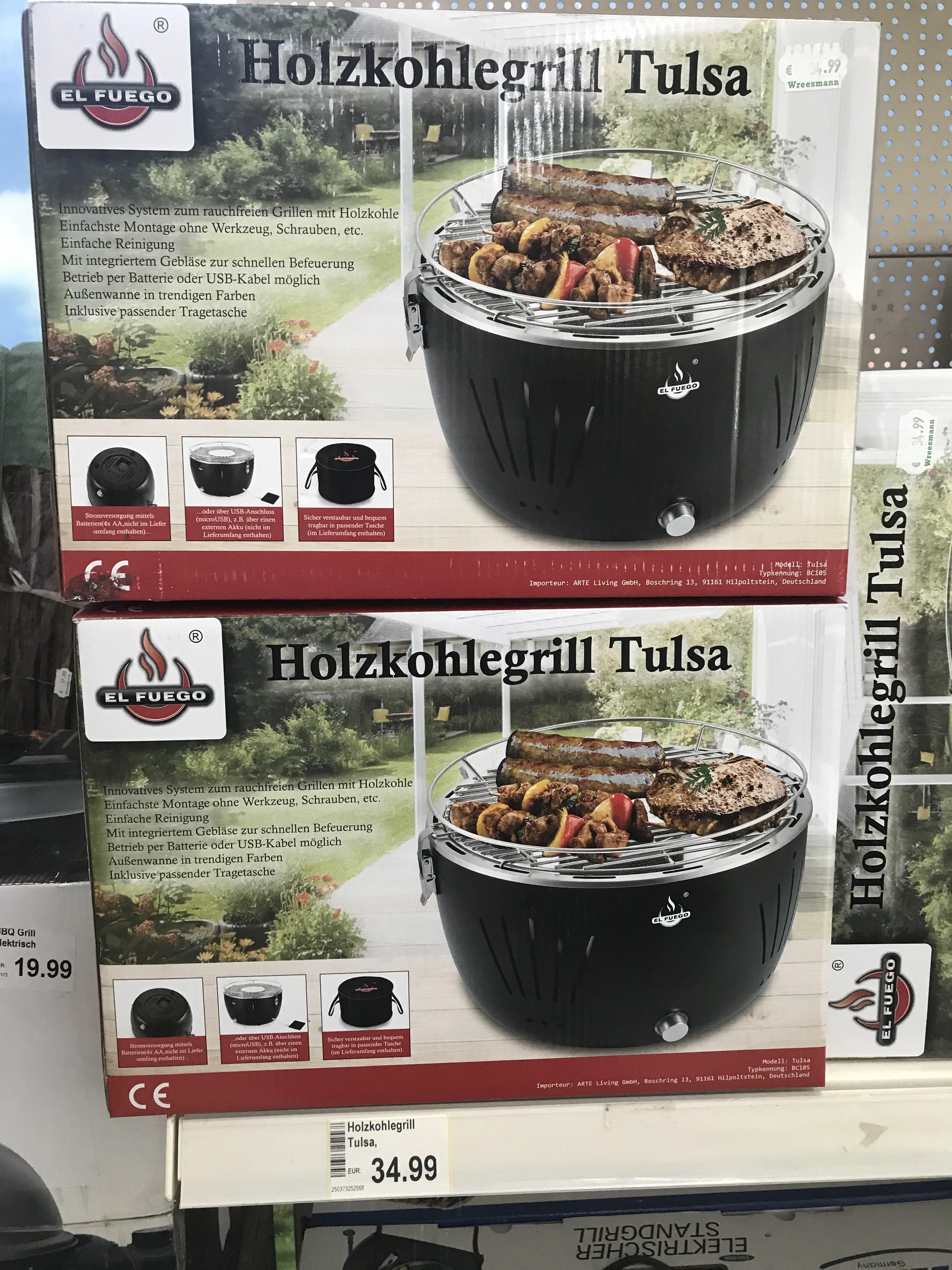 [Wreesmann Großröhrsdorf] Offline TischHolzkohlengrill El Fuego Tulsa