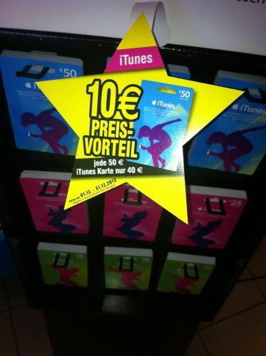 [Jet Tankstelle Bundesweit] iTunes Karte 50 € für 40 € ab 1.12.