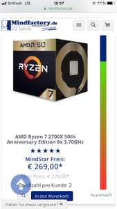 AMD Ryzen 7 2700x Gold Edition inkl. World War Z + The Division 2