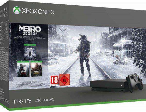 Xbox One X Metro Saga Bundle für 327,84€ [Amazon]