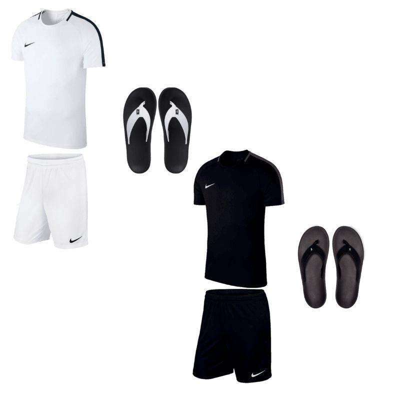 3-teiliges Nike Freizeit Set bestehend aus Shirt, Short & Flip Flops (in 4 Farben)