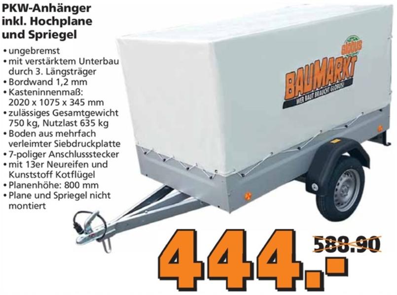 PKW-Anhänger inkl. Hochplane TPV EU2 750kg 13 Zoll