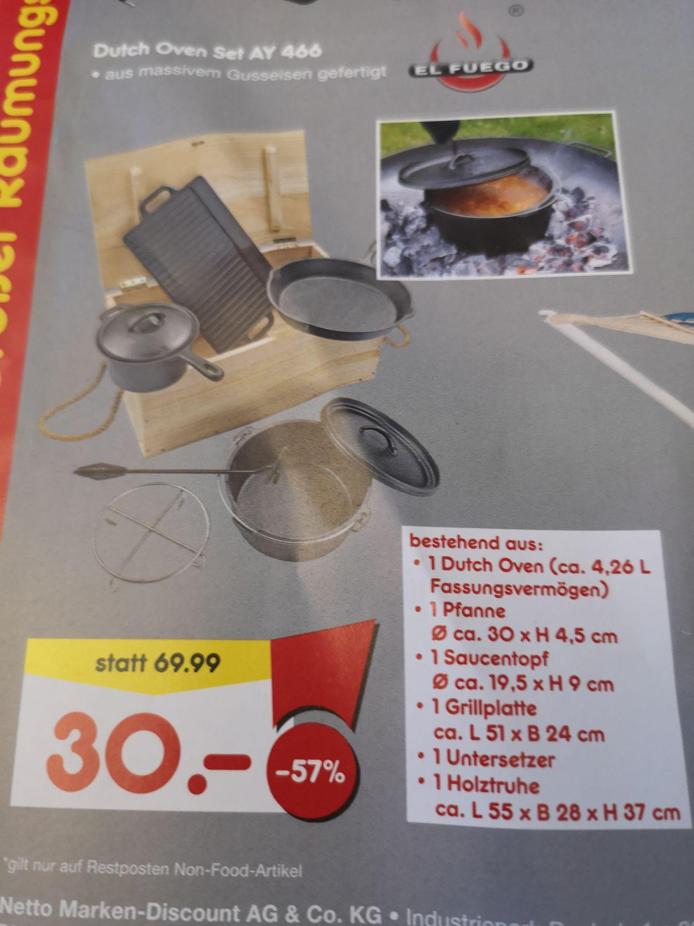 [Lokal] El Fuego Dutch Oven Set AY 466 - Netto MD
