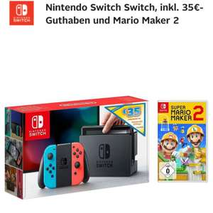 Nintendo Switch + Mario Maker 2 + 35€ e-shop Guthaben