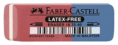 Faber-Castell 187040 - Radierer Latex-frei, Tinte/Blei, 7070-40 [Amazon Prime]