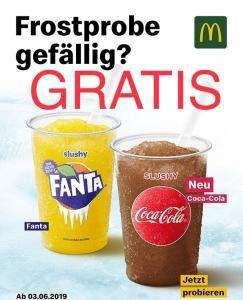 Mc Donalds Slushy (Coca Cola oder Fanta) gratis