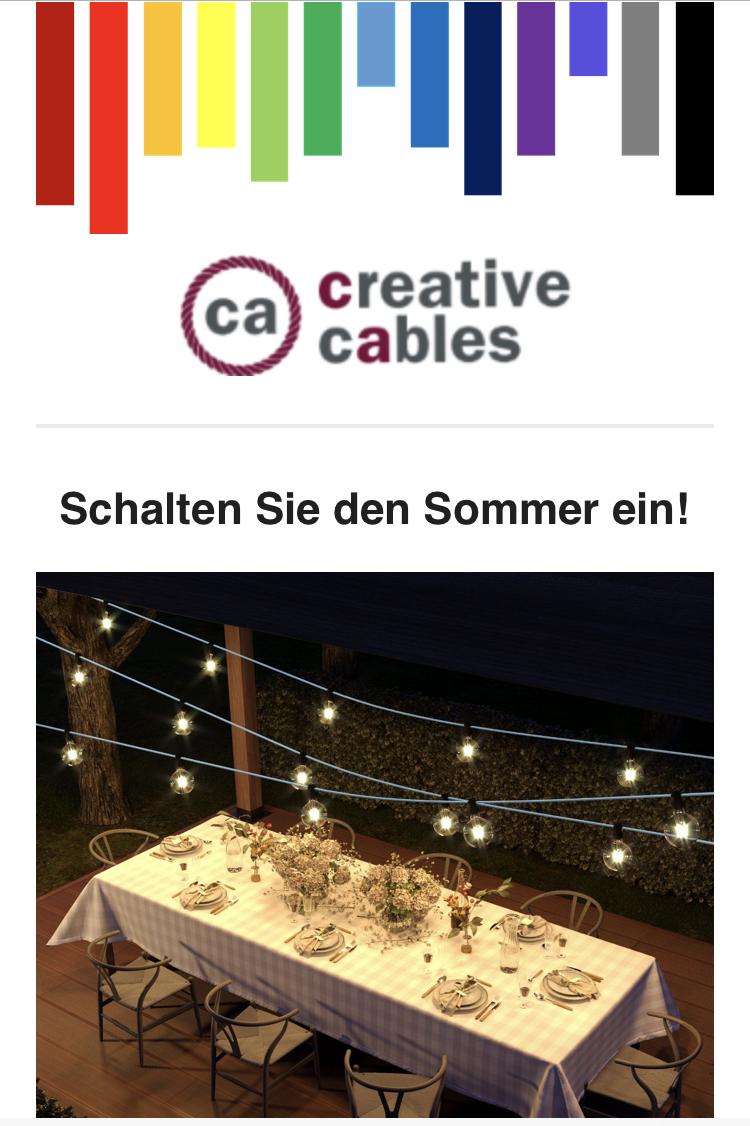 Creative Cables - 20% auf das Gesamtsortiment, ab €25 Versandkostenfrei