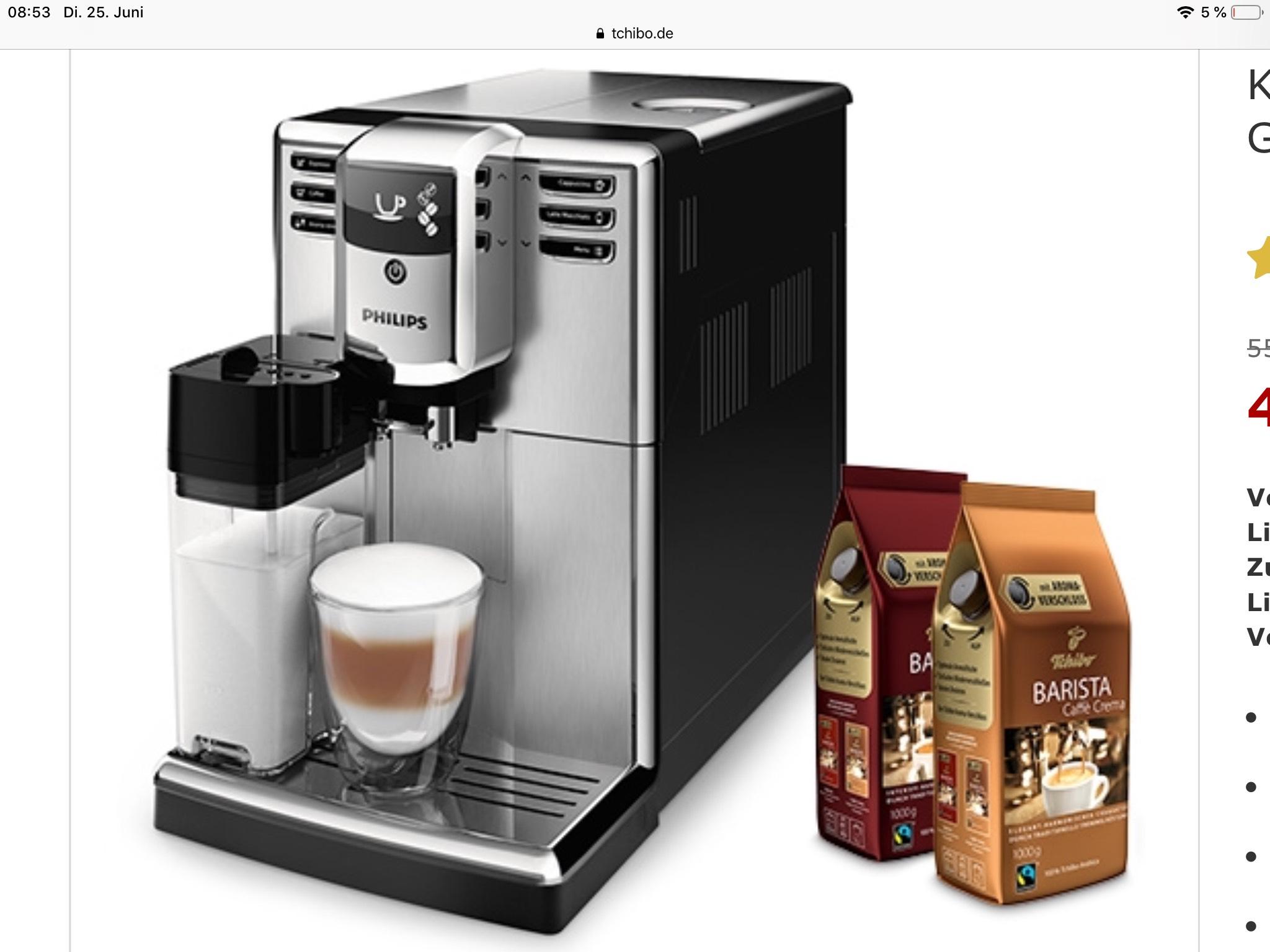 Kaffeevollautomat Philips EP5365/10 5000 Serie Kaffeevollautomat, silber (inkl. Gratis-Kaffee)