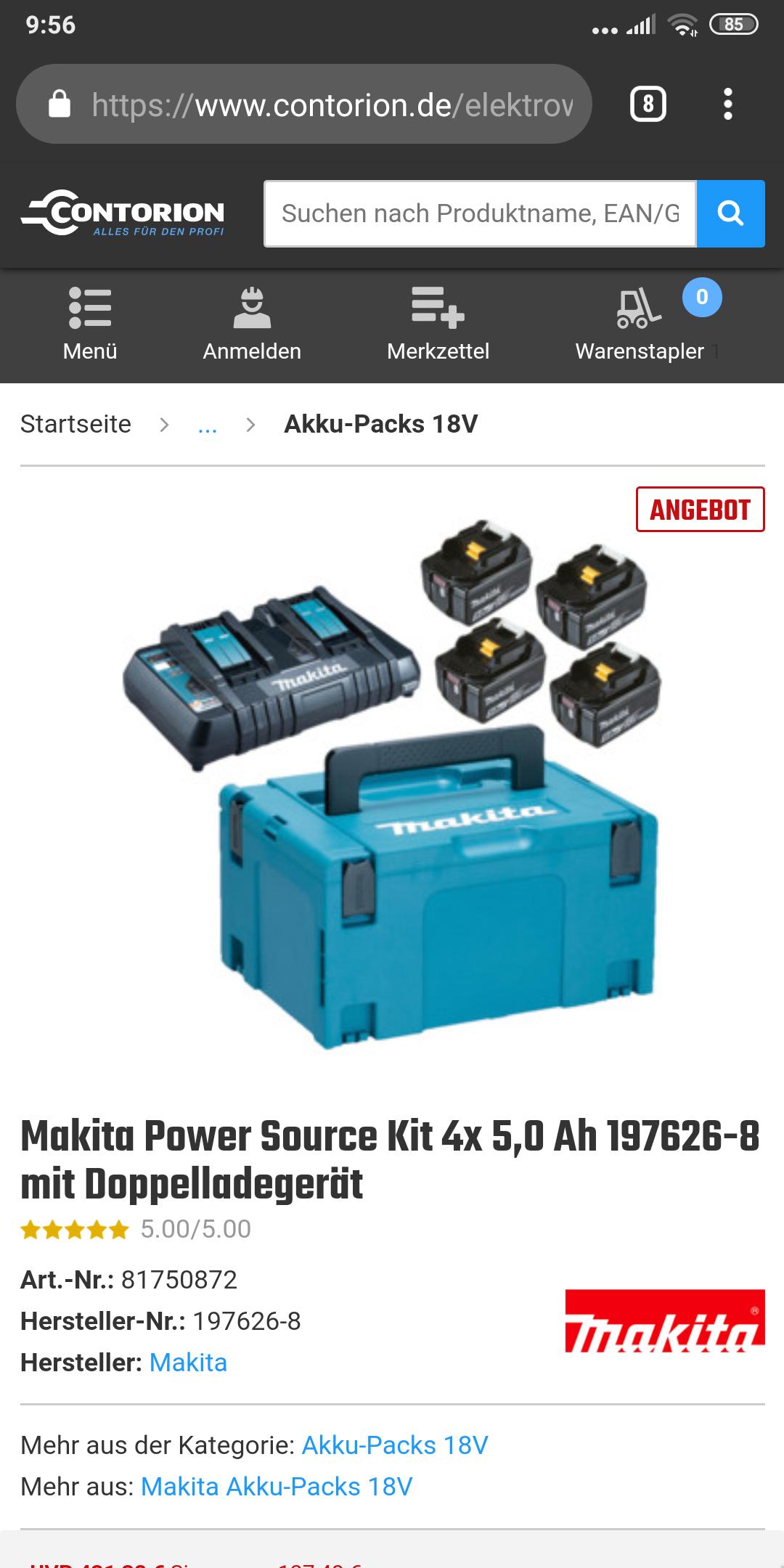 Makita Power Source Kit 197626-8