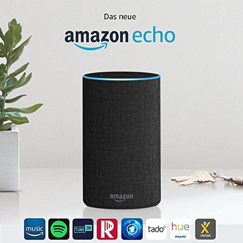 [Amazon Prime] Amazon Echo, Zertifiziert und generalüberholt, (2. Generation) alle Farben
