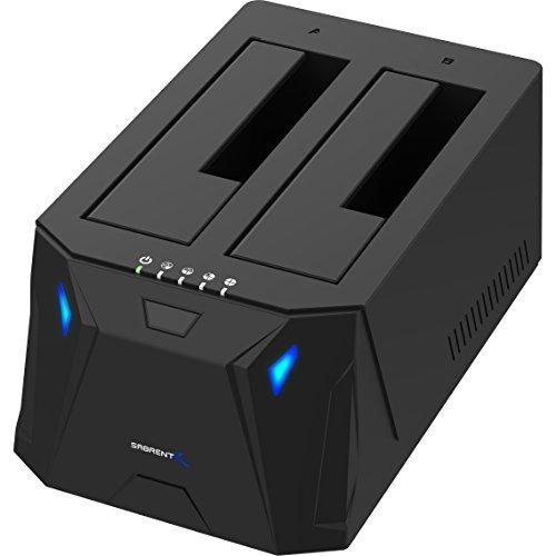 amazon: Blitzangebot: Sabrent USB 3.0 zu SATA I/II/III Dual Bay externe Festplatte Dockingstation für 2,5 oder 3,5 Zoll HDD, SSD