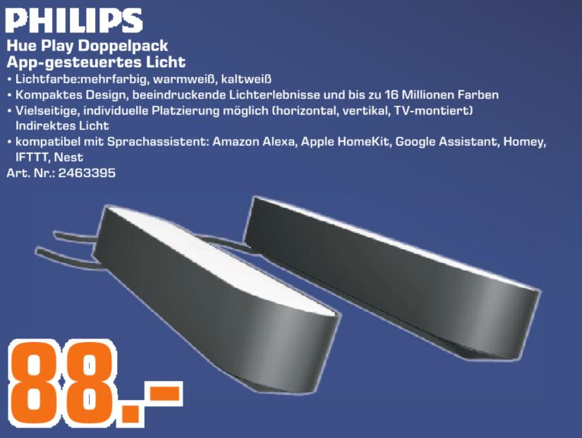 [Lokal: Saturn Dortmund & Umgebung] Philips Hue White & Color Ambiance Play Lightbar Doppelpack | SanDisk Ultra R100 microSDXC 200GB für 27€
