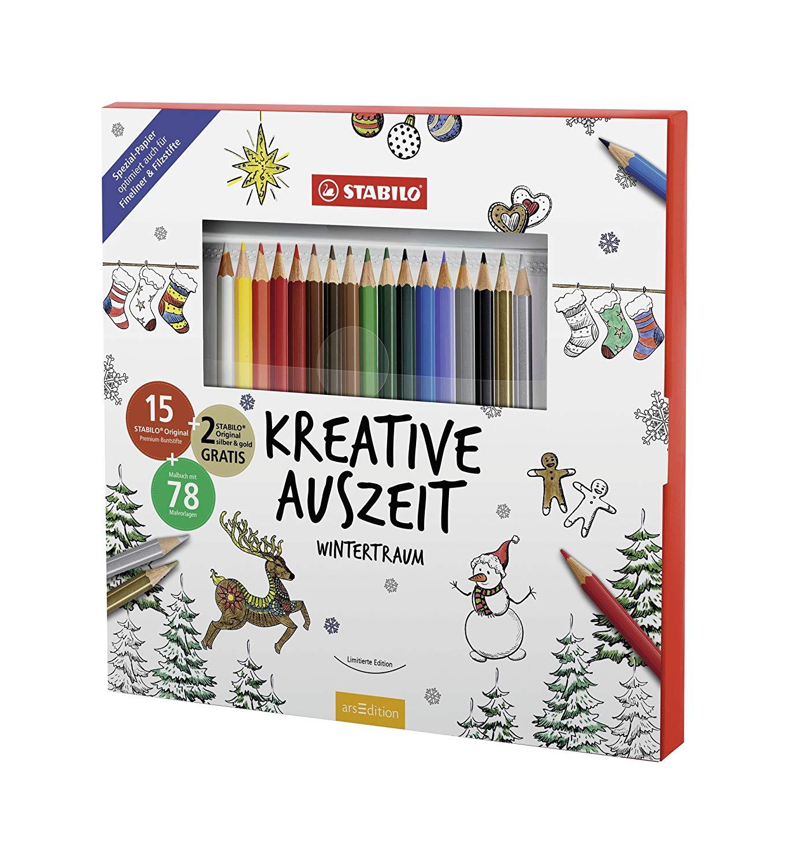 Stabilo Kreative Auszeit Wintertraum Malbuch 78 Motive inkl. 15+2 STABILO Original Premium-Buntstifte für 5€ versandkostenfrei (Saturn)