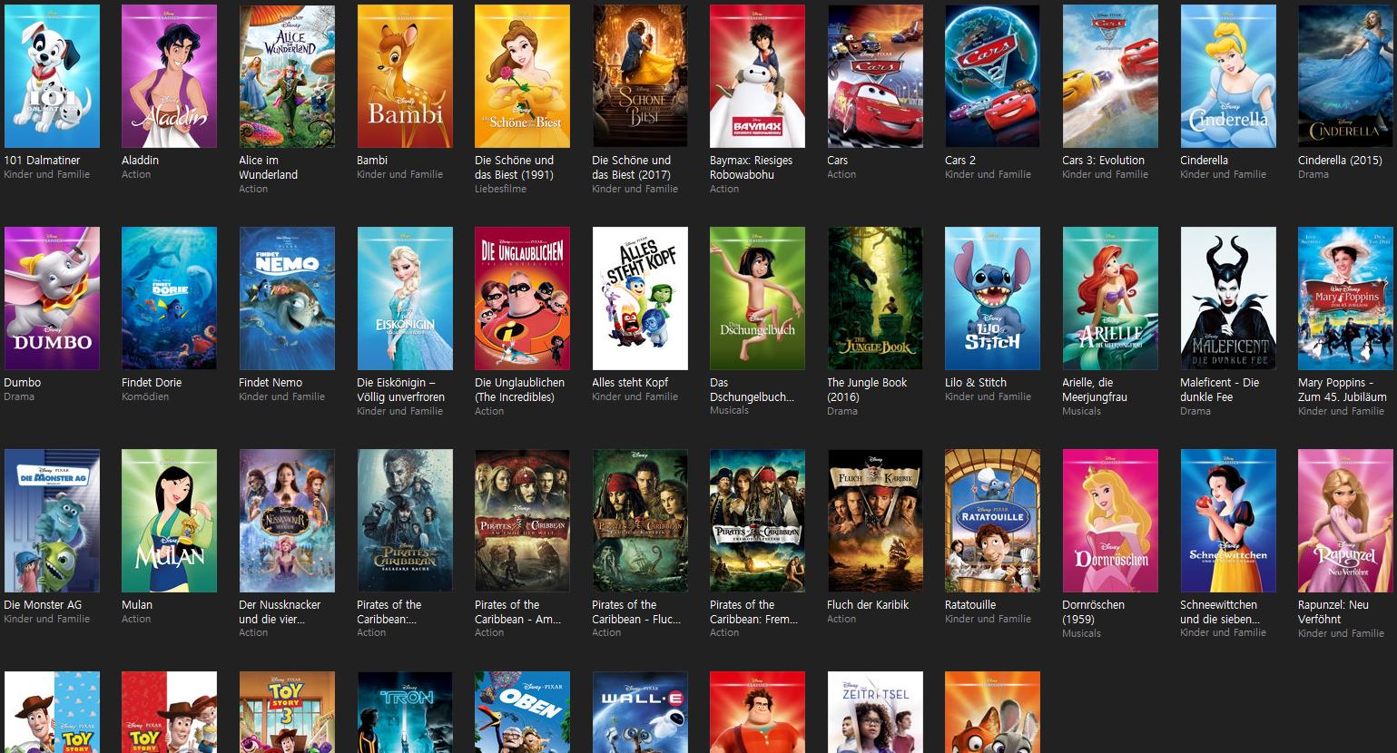 [iTunes] div. Disney Filme für 6,99€ in HD