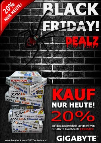 GIGABYTE KAUF NUR HEUTE 30.11.2012! 20% Black Friday CASHBACK!