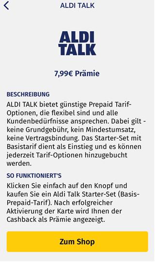 [ALDI TALK] Starter-Set / Basis-Prepaid Tarif mit 10€ Startguthaben für nur 5€