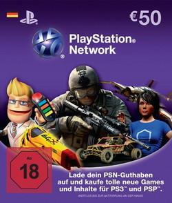[conrad.de] Playstation Network Card 50 € [36,68€ inkl. Versand per Sofortüberweisung]
