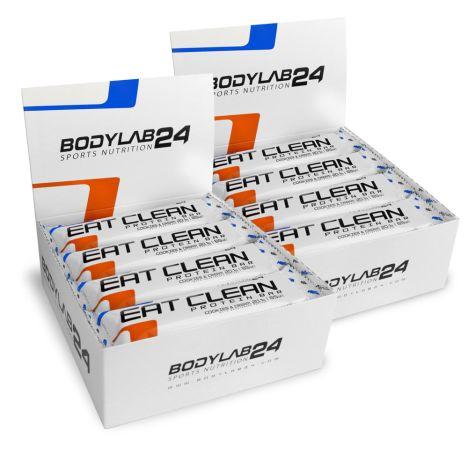 24x Bodylab24 Eat Clean Protein-Riegel Cookies & Cream (je 65g, 20g Protein aus Milcheiweiß, 2.5g Zucker)