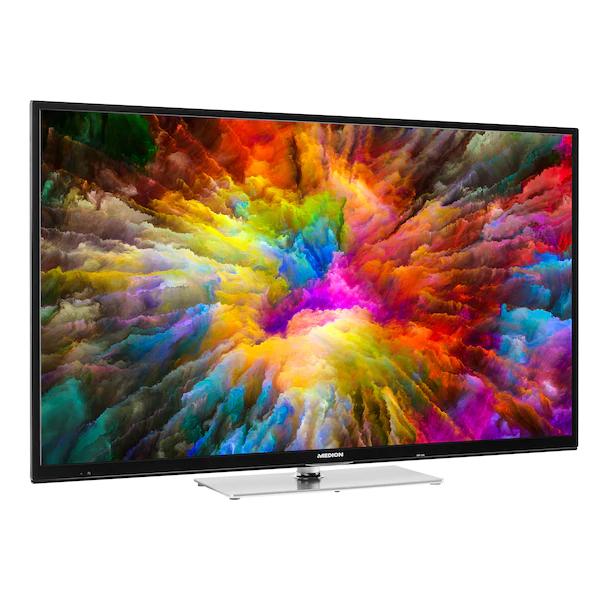 "Medion Life X14908 (49"", UHD, Edge-LED, 60Hz, HDR10 & Dolby Vision, 8bit+FRC, 350 cd/m², Triple Tuner, Netflix, Prime Video, PVR, DTS, CI+)"