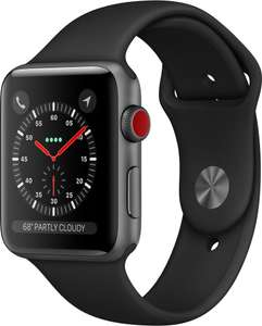 Apple Watch Series 3 GPS Cellular Grau Aluminium 38mm Sport schwarz (+ 1695 Superpunkte mit Club Rakuten)