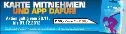 **Preiskracher**50 Euro iTunes Karte für 36 Euro beim Saturn Kiel!!!