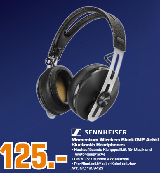 [Lokal: Saturn Essen, Mülheim, Oberhausen, Hilden & Wuppertal] Sennheiser MOMENTUM 2.0 Wireless Over-Ear Kopfhörer (NFC, aptX, ANC)