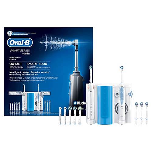 Oral-B SmartSeries Center OxyJet Smart 5000 - Elektrische Zahnbürste + OxyJet Munddusche, für eine sanfte Reinigung am Zahnfleischrand