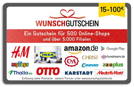 5€ Rabatt auf Wunschgutschein durch umfrage (Z.b 15€ Amazon für 10€)