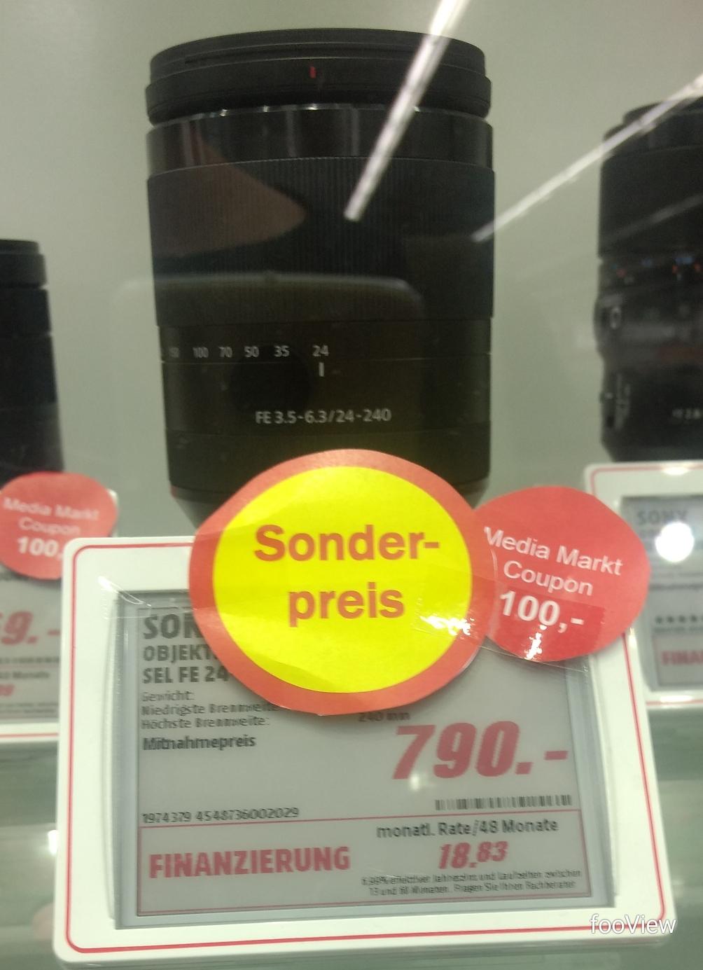 [lokal] Sony SEL FE 24-240 / 3.5-6.3 OSS +100€ Gutschein - MM Leipzig Höfe am Brühl