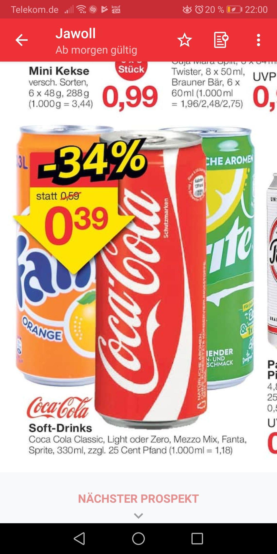 Coca Cola softdrinks 0,33