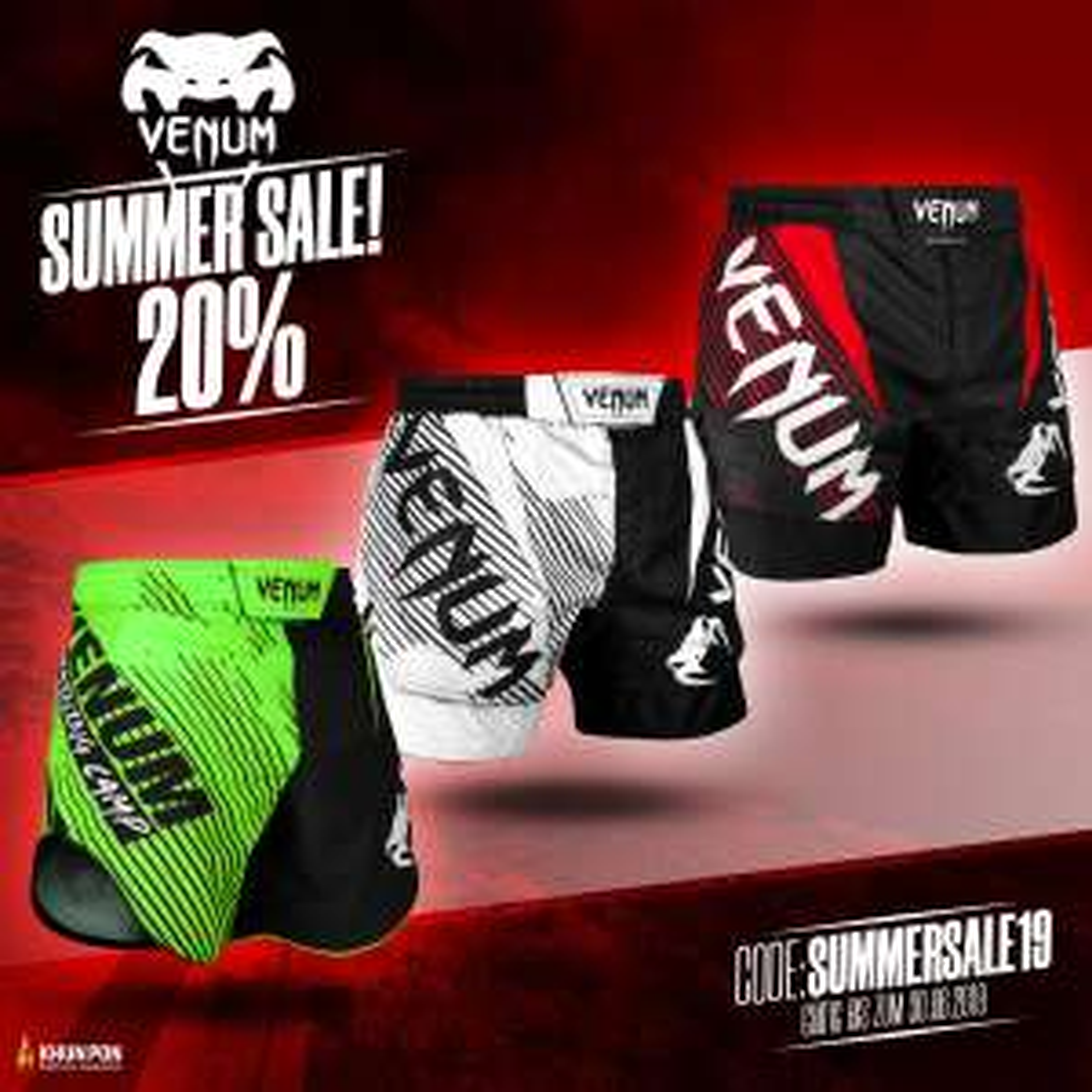 20 % auf Fightwear von Venum, Top King,  Benlee bei Khunpon