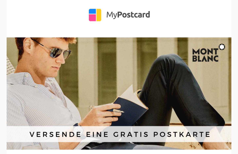 Kostenlose (Premium) Postkarte über die mypostcard App :)
